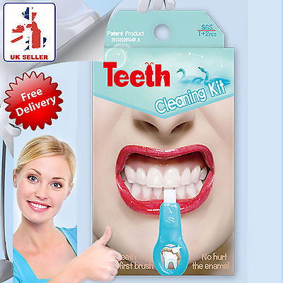 Teeth Whitening Cleaning Pen Plaque Stain Remover Cleaner Dental Kit Plaque Bust