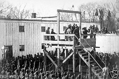 Civil War Execution of Captain Wirz, keeper of Camp Sumpter Andersonville Prison