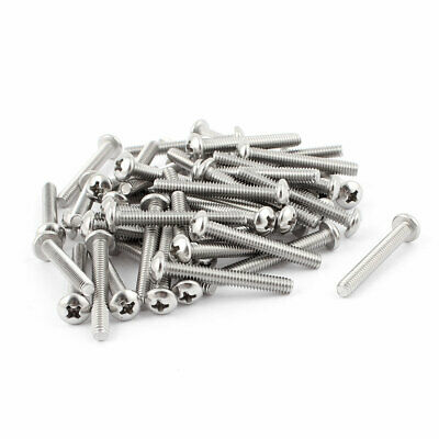 "50 Pcs #8-32 x 1-1/4"" Stainless Steel Phillips Pan Head Bolts Machine Screws"