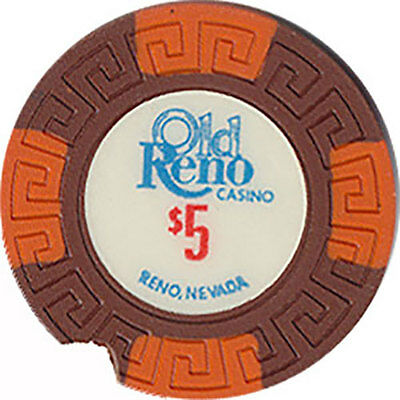 (1) Old Reno $5 Casino Chip Reno Nevada Lg-Key Mold Free Shipping *