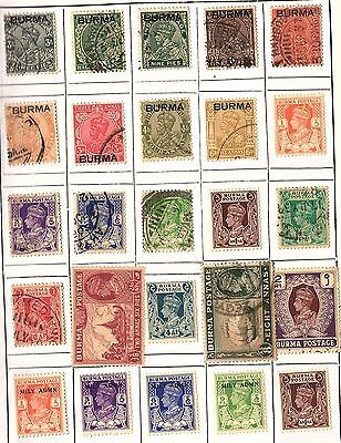 250 All Different  BURMA STAMPS, BOOK MOUNTED