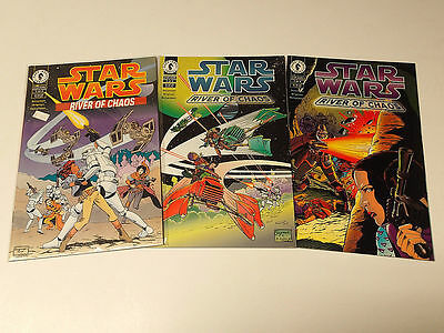 STAR WARS: River of Chaos lot of 3 issues #1-3 (of 4)  Dark Horse Comics 1995 VF
