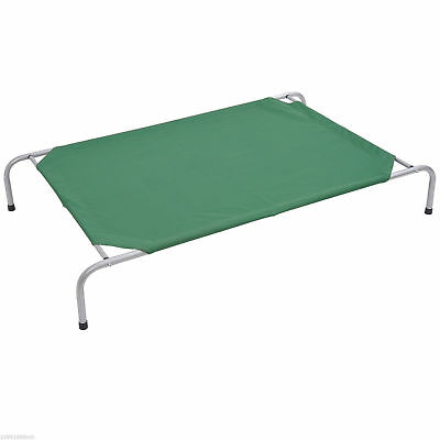 Pawhut Large Elevated Pet Bed Cot Pet Cozy Cooling Camping Sleeper Lounger Green