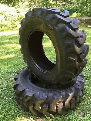 2 NEW 16.9-28 Solideal Backhoe Tires R4 - HEAVY DUTY 12 PLY - 16.9X28
