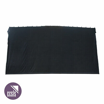 Bravo 6M X 3M Black Cotton Velvet Stage Curtain - Flat _ 63B