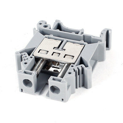 Gray Universal Din Rail Screw Terminal Block Connector 800V 101A 22-4AWG