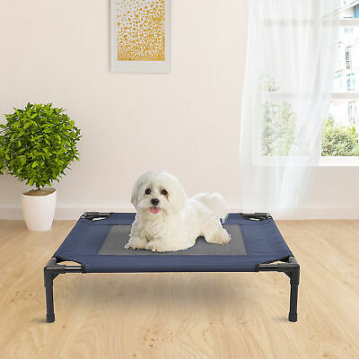 "Pawhut 30"" x 24"" Elevated Dog Bed Lounger Sleeper Pet Cot Portable"