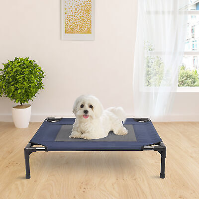 """Pawhut 30"""" x 24"""" Elevated Pet Bed Dog Cat Cot Cozy Cooling Camp Lounger Sleeper"""