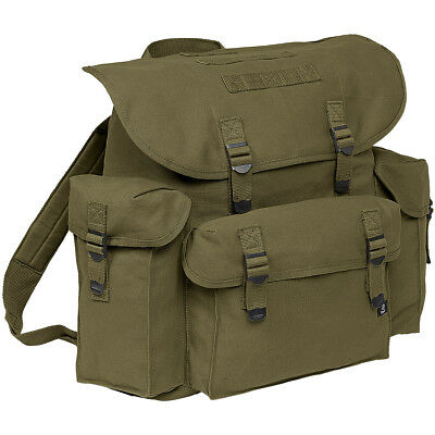 Brandit Classic Vintage Bw German Army Backpack Military Canvas Rucksack Olive