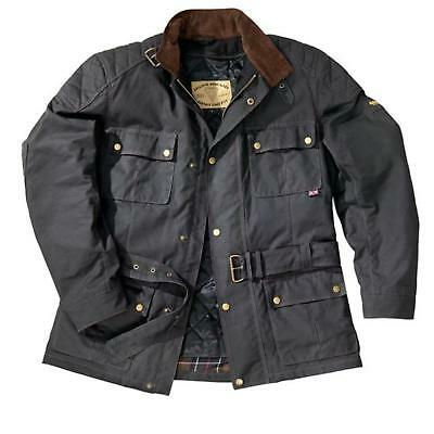 GERMOT Oxford Schwarz Motorrad Wachs Jacke Retro Chopper Old English wasserfest