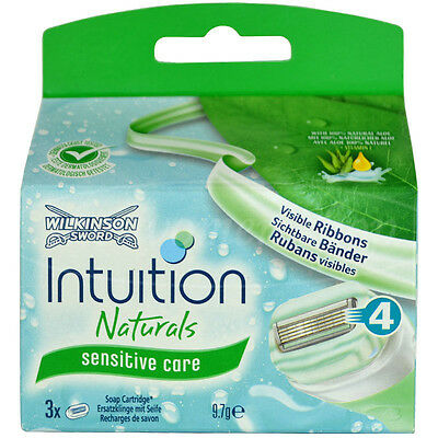 3 Wilkinson Intuition Sensitive Care Naturals Rasierklingen Klingen Aloe Vera