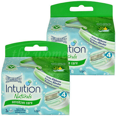 6 Wilkinson Intuition Sensitive Care Naturals Rasierklingen Klingen Aloe Vera