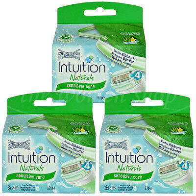 9 Wilkinson Intuition Sensitive Care Naturals Rasierklingen Klingen Aloe Vera