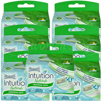 21 Wilkinson Intuition Sensitive Care Naturals Rasierklingen Klingen Aloe Vera