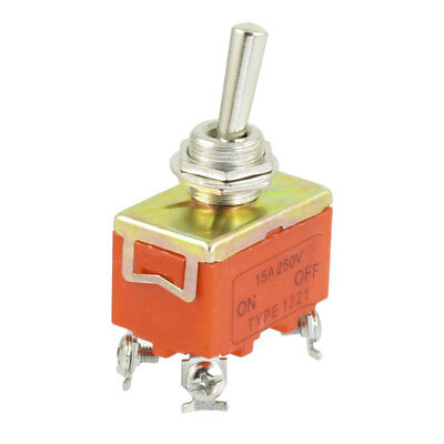 Panel Mounted ON-OFF 2 Way DPST Latching Toggle Switch AC 250V 15A