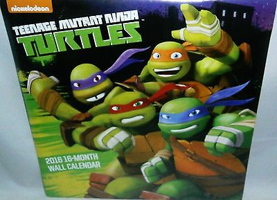 "Teenage Mutant Ninga Turtles  2016 12-Month Wall Calendar. Full Color 10"" X 10""."