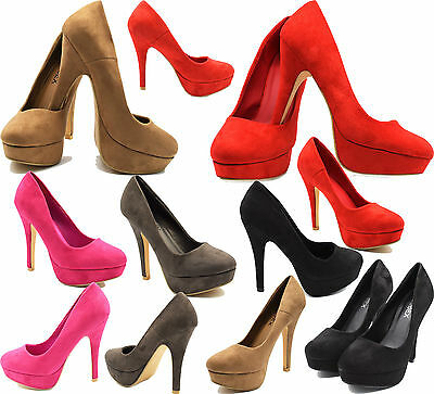 Women Ladies Stiletto High Heels Party Wedding Shoes Concealed Platform Shoes