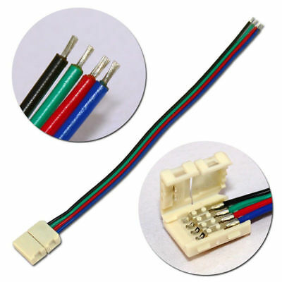3528/5050/5630 Led Strip Light Connector 8/10 Mm Rgb Single Color 2/4 Pin Cable