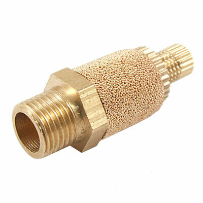 "Adjustable 3/8"" Male Thread Cylinder Pneumatic Brass Muffler Silencer"
