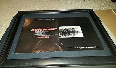 The Legend Of King Kong 1976 Rare Original Promo Poster Ad Framed!