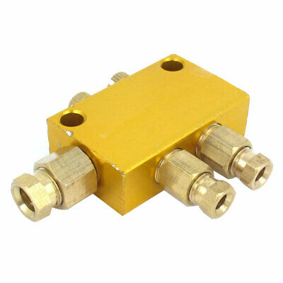 Air Pneumatic 10mm Inlet 8mm Outlet Adjustable Hydraulic Oil Distributor