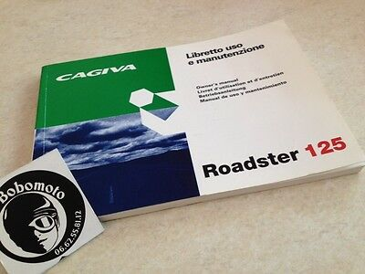 Manuel propriétaire Roadster Cagiva 125 owner's manual