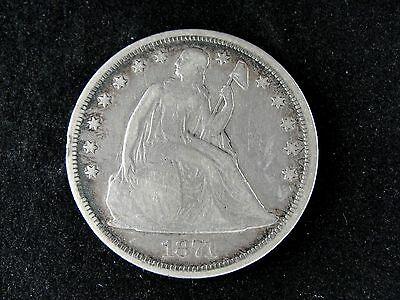 1871 P Seated Liberty Silver Dollar * Nice Early Type Coin *