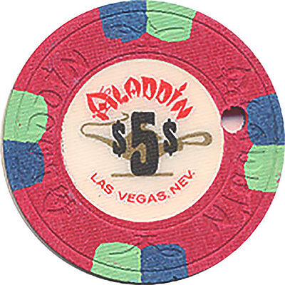 (1) Aladdin $5 Casino Chip Las Vegas Nevada House Mold Free Shipping *