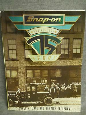 """New Snap-On Tools Anniversary Catalog - """"Snap-On 75 Years"""" Issued January 1995"""
