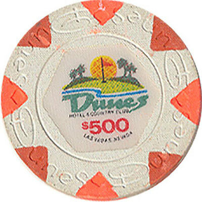 (1) Dunes $500 Casino Chip Las Vegas Nevada House Mold Free Shipping *