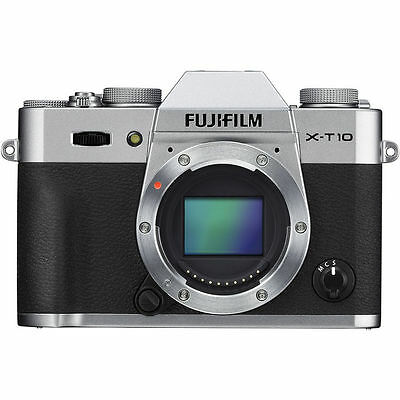 Fujifilm X-T10 Mirrorless Digital Camera (Silver, Body Only) BRAND NEW!!