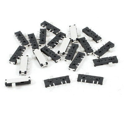 20pcs On/Off/On 8-Pin 2P2T DPDT Horizontal Mini SMT SMD Slide Switch 10mm x 3mm