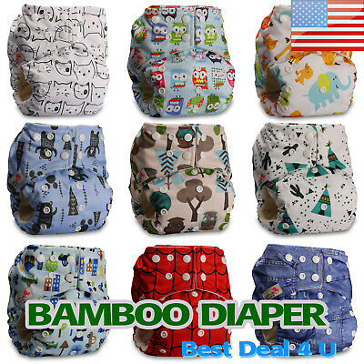 Washable Baby Pocket Nappy Cloth Reusable Diaper BAMBOO Cover Wrap