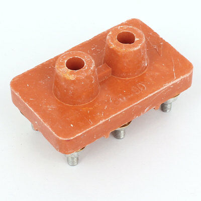 Orange Insulation Ceramic 2 Rows 6 Positions Single Phase Barrier Terminal Block
