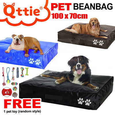 LARGE Pet Dog Cat Bed Bean Bag Outdoor Waterproof PVC Nylon Three Colours