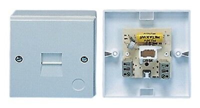 Bt Master Telephone Socket Surface Mounted 2/4A Screw Connections
