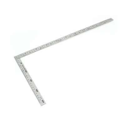 Stainless Steel 25 x 50cm Double Sides Right Angle Metric Try Square Ruler