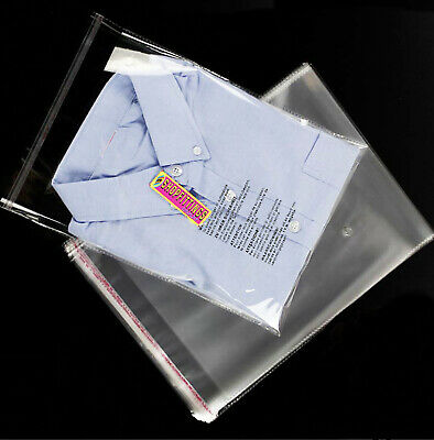 T-shirts Packing Poly Bags Clothes Display Resealable Clear Packing Bags UK