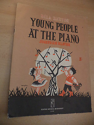 Bela Bartok Young Old Vintage Piano Sheet Music Childrens Easy Instruction Book