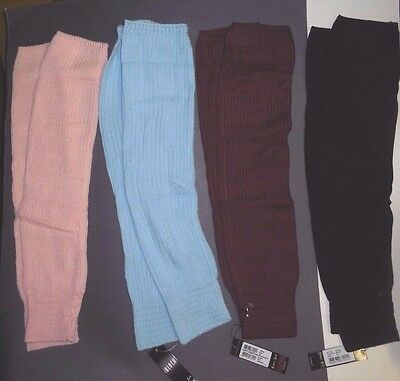 "NWT Bloch Knee high Legwarmers 23"" long 4 colors rib 2x2 #W0963 supersoft"