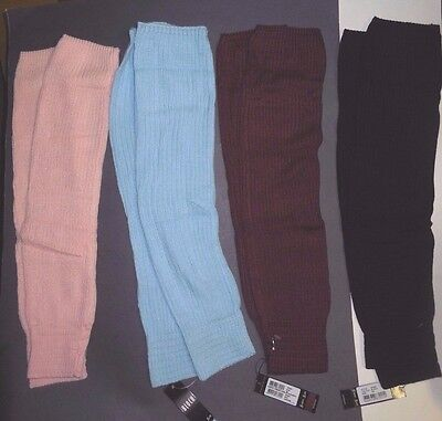 "NWT Mirella knee high legwarmers 23"" long 4 colors rib 2x2 #W0963 supersoft"