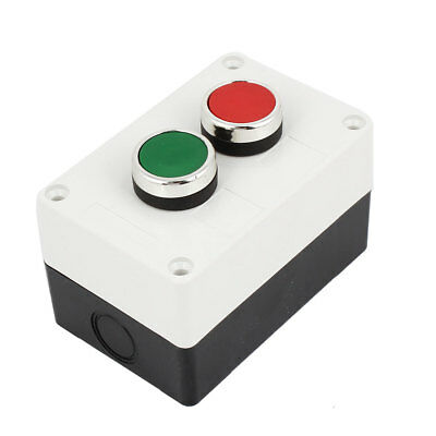 SPDT Momentary Red Green Push Button Station Switch Control Box AC660V 10A