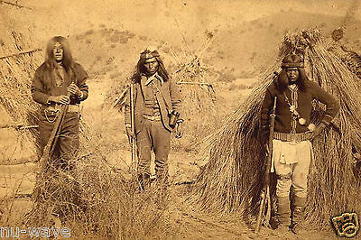 Apache warriors-center is Apache Kid while he was a Sergeant for U.S Arm- 1880