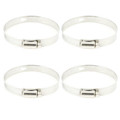 4 Pcs Worm Drive Adjustable 52mm-76mm Pipe Hose Clamp Wrap