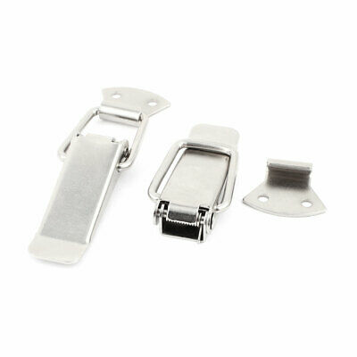 """Chests Cases Toolbox Draw Hardware Spring Loaded Toggle Latch Catch 5"""" 2pcs"""