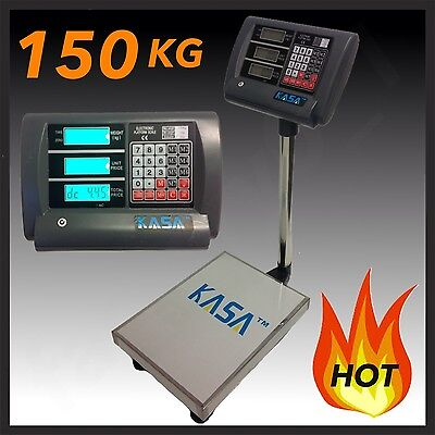 150KG ELECTRONIC DIGITAL Computing PRICE  SCALE Weight Shop Postal Industrial