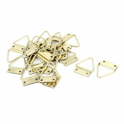 25Pcs 3.5x2.9cm Double Hole Triangle Rings Picture Frames Hanger Hooks