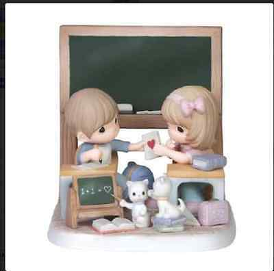 Precious Moments Boy & Girl Chalkboard Love Is Most Important Lesson 151055 2015