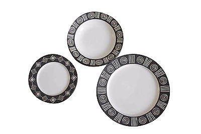 "Pottery Barn ""Bongo"" pattern dinnerware"