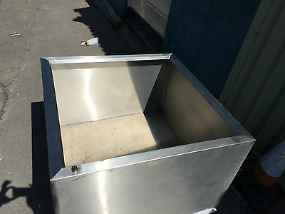 Stainless steel commercial extractor extraction ventilation  canopy/hood NO FAN